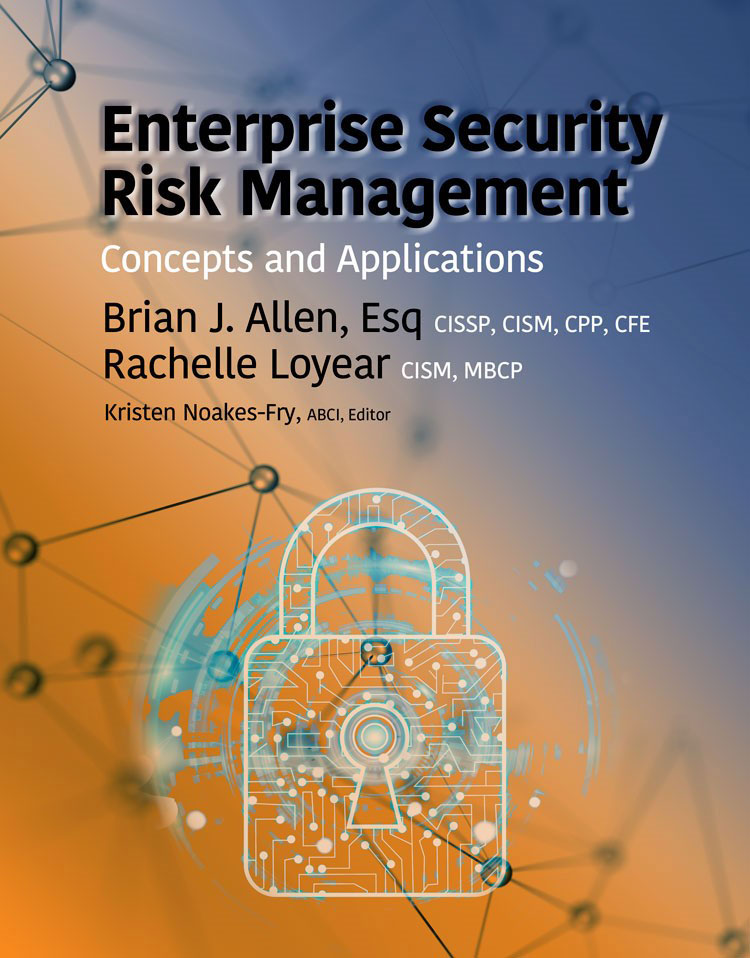 ENTERPRISE SECURITY RISK MANAGEMENT: Concepts and Applications